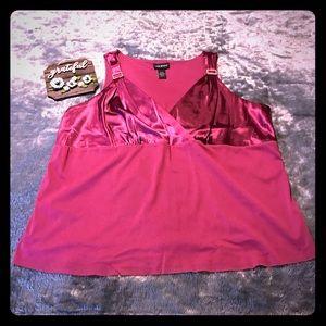 Lane Bryant Tops - Lane Bryant Red Embellished Cami/Tanktop